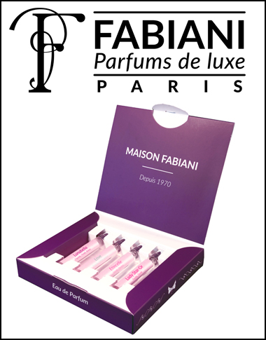 Coffret Cadeau 4 parfums Fabiani